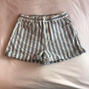 American Eagle Striped Mom Shorts